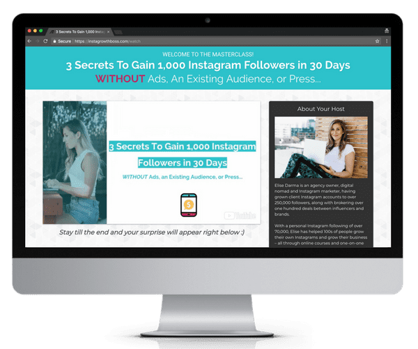 3 ways to gain 1000 instagram followers in 30 days masterclass