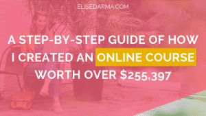 A step by step guide of how I created an online course worth over $255397 - Elise Darma