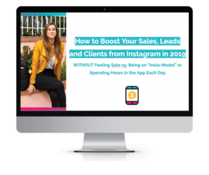 How to boost your sales, leads and clients from instagram - Elise Darma webinar