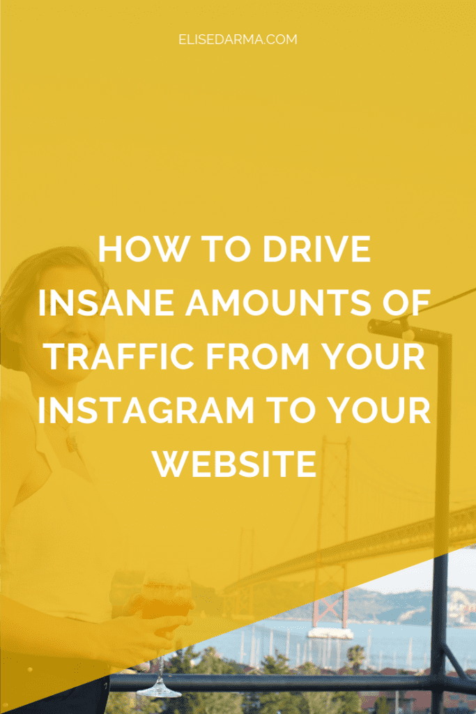 How to drive insane amounts of traffic from your Instagram to your website elise darma stories.png