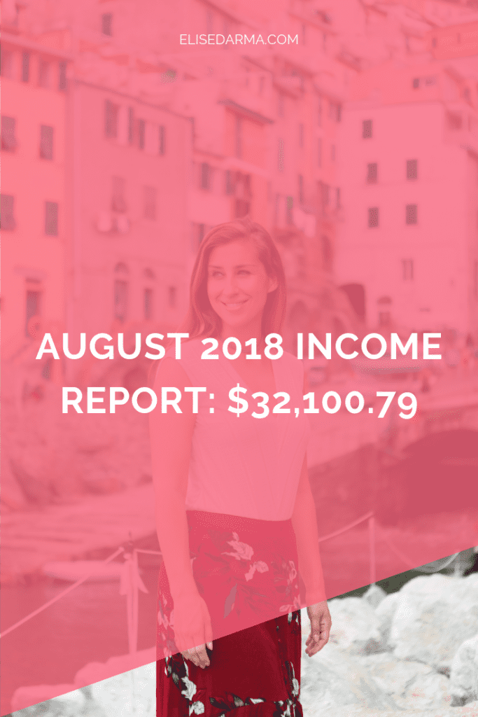 elise darma august income report online business