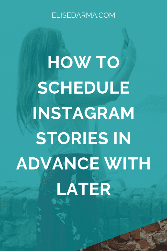 schedule instagram stories with later
