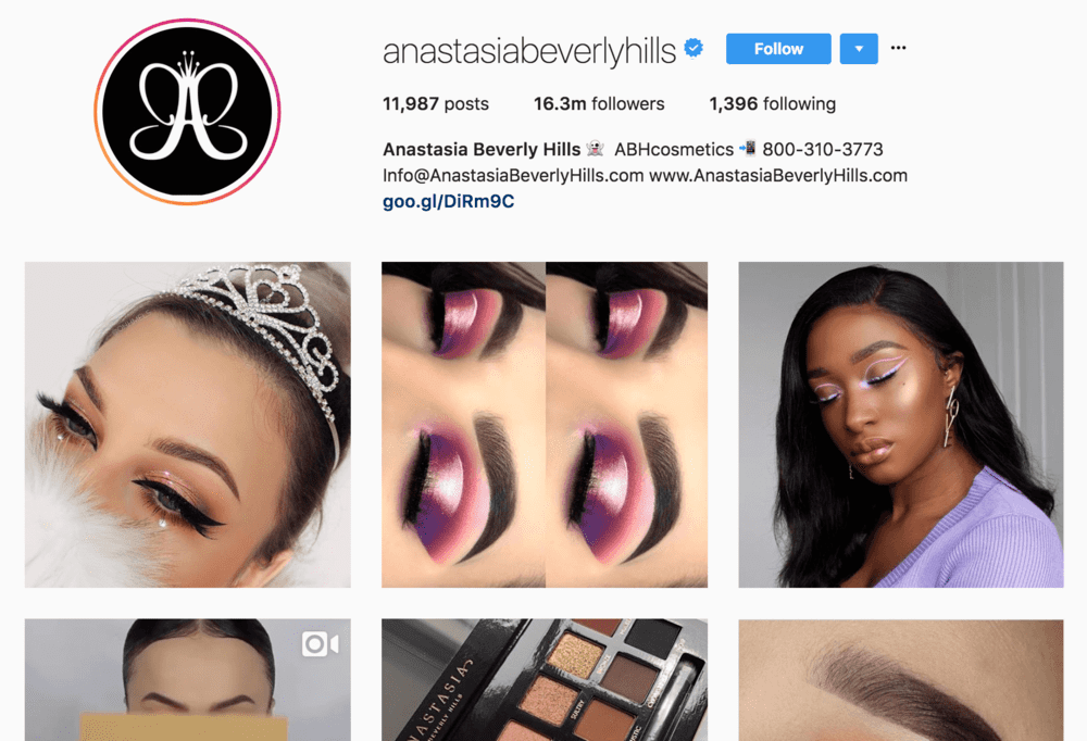 anastasiabeverlyhills+instagram