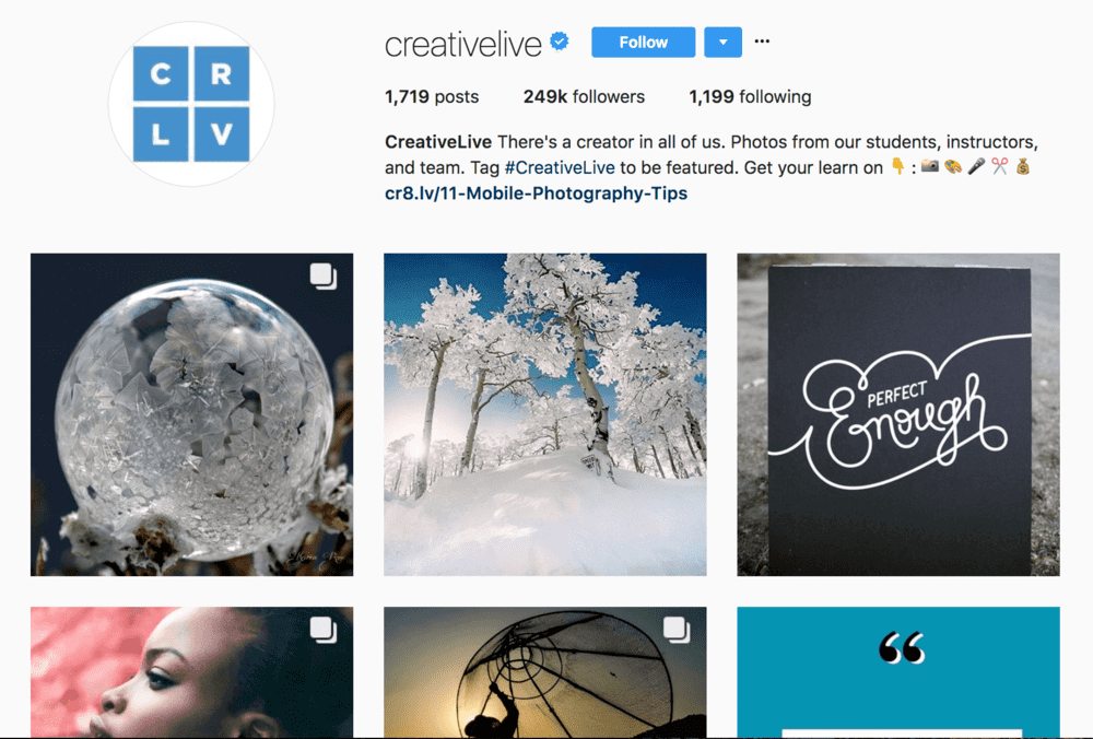 creativelive+instagram