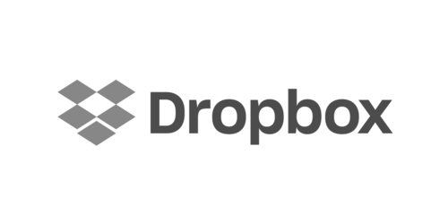 Dropbox logo in grayscale