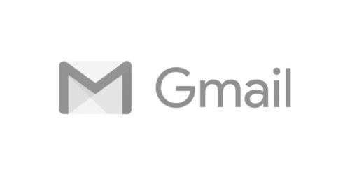 Gmail logo in grayscale