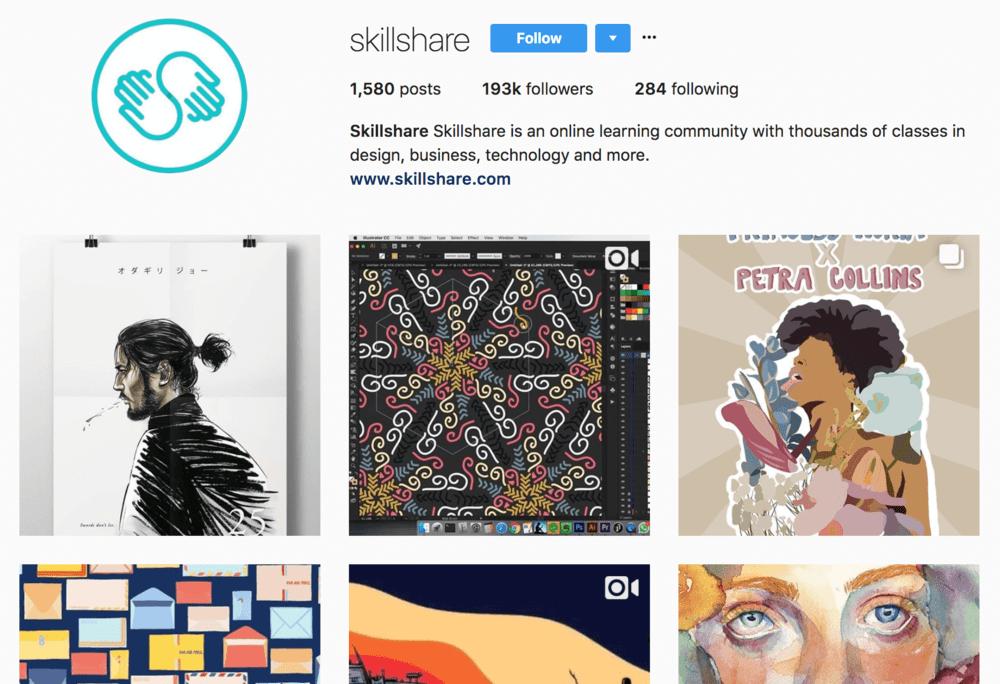 skillshare+instagram