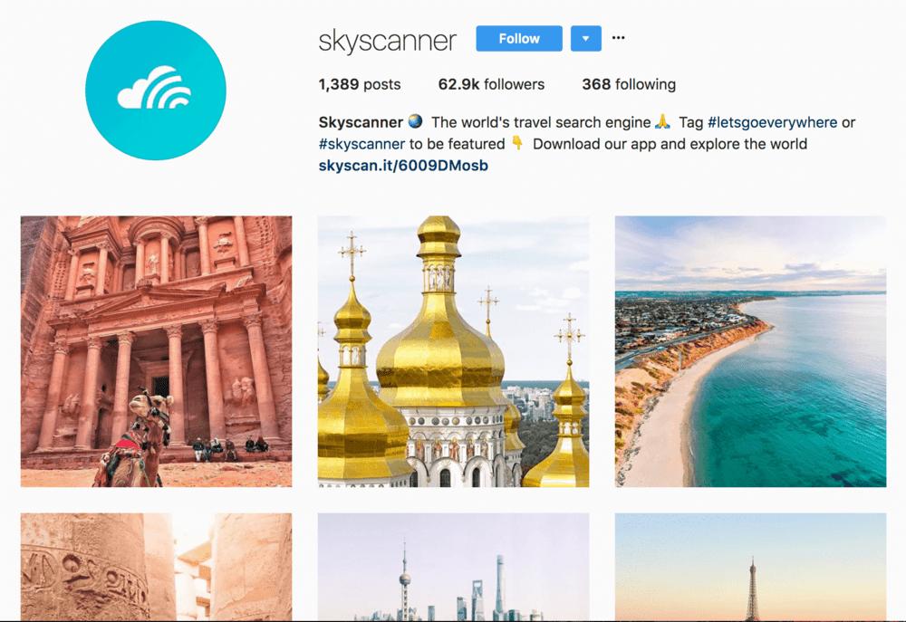 skyscanner+instagram