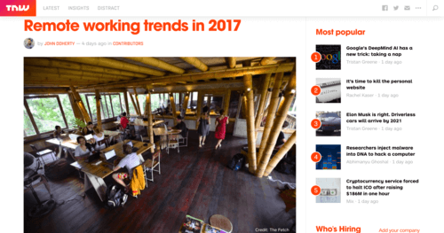 The Next Web Remote Working Trends in 2017
