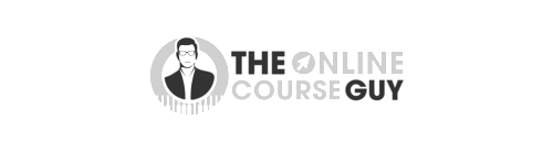 The Online Course Guy logo grayscale