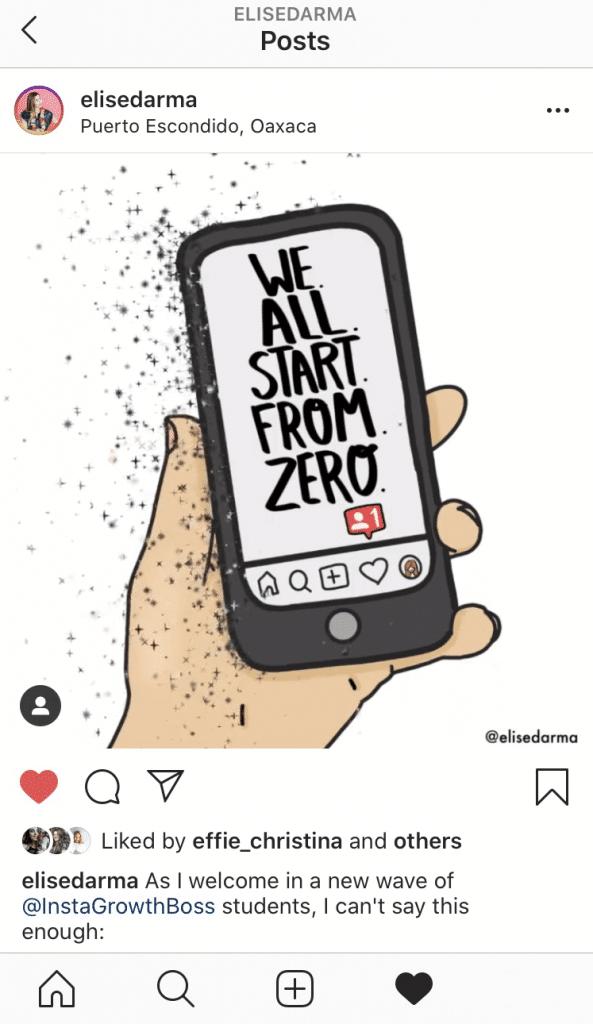 Elise Darma Instagram content idea: