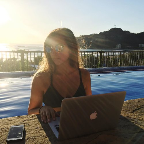 Working on my business from Nicaragua.