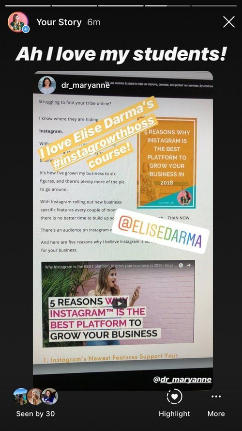 how to use instagram stories for business - elise darma