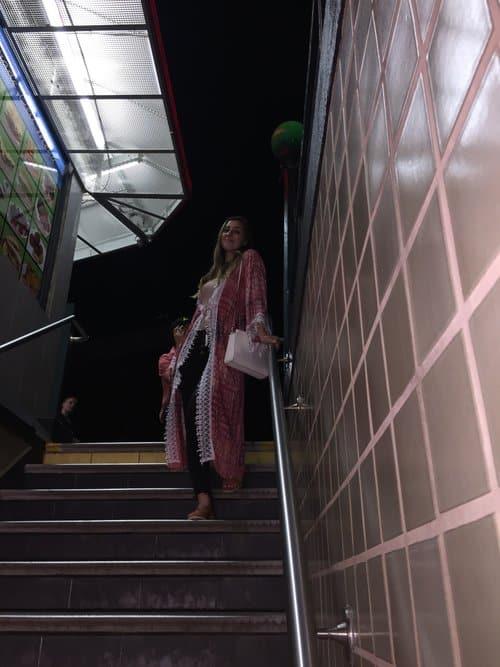 ELISE DARMA ON STAIRS