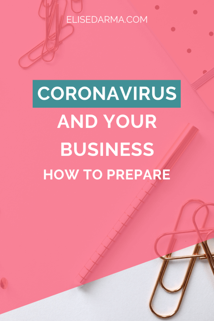 Coronavirus and your business how to prepare - Elise Darma
