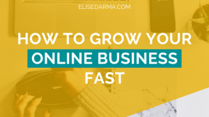 How to grow your online business fast - Elise Darma